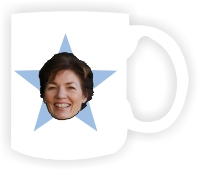 The Office Star Mug. Office Mug With Blue Star The F