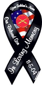 fallen soldier magnet with crest