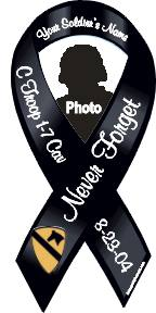 personalized photo black ribbon magnet
