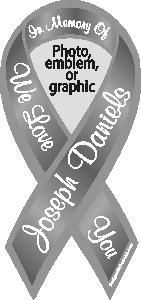 Custom Personalized Awareness Ribbon Magnets And Stickers With - Custom awareness car magnet