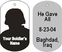 dog tag for fallen soldier