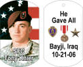 photo dog tag for fallen soldier