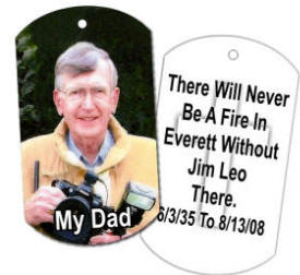 memorial photo dog tag